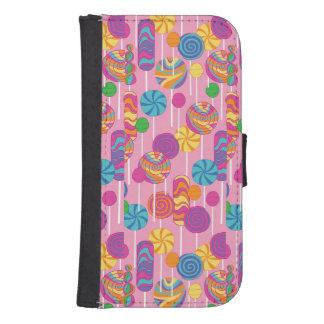 Lollipops Candy Pattern Samsung S4 Wallet Case