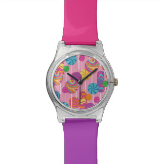 Lollipops Candy Pattern Watch