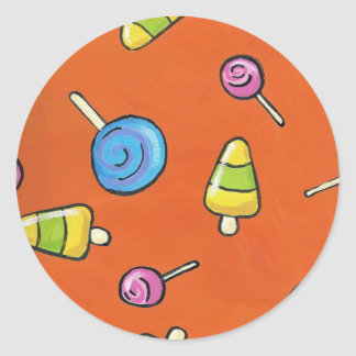 Lollipops Classic Round Sticker
