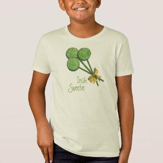 Lollipops Shamrock Irish Sweetie Kid T-Shirt
