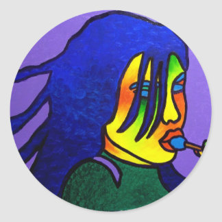 Lolly Pop by Piliero Round Sticker