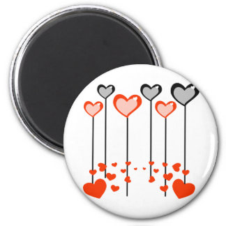 Lolly Pop Hearts 6 Cm Round Magnet