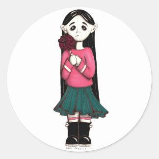 lolly round sticker