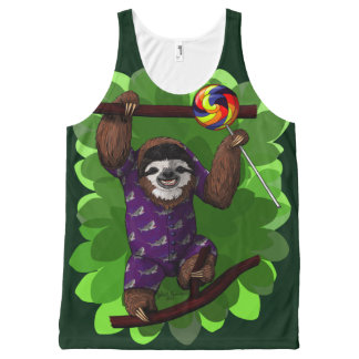 Lolly Sloth All-Over Print Tank Top