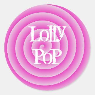 Lollypop Round Sticker