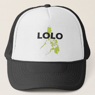 Lolo over Philippines map Trucker Hat