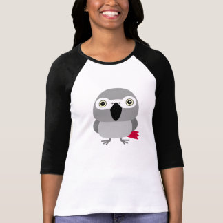 Lolo, the African Grey parrot character T Shirts