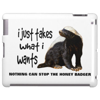 LOLS Style Honey Badger. I just takes what I wants iPad Case