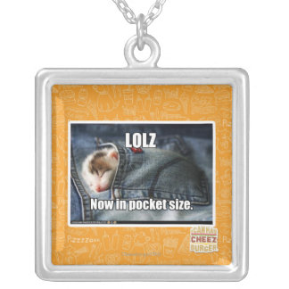 LOLZ Now in Pocket Size Silver Plated Necklace