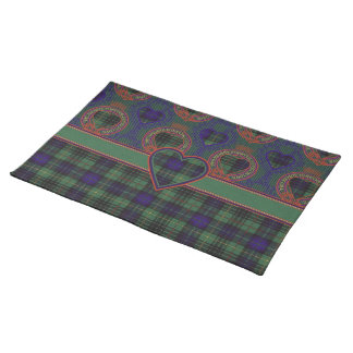 Lombard clan Plaid Scottish kilt tartan Placemats