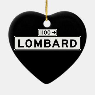 Lombard St., San Francisco Street Sign Christmas Ornament
