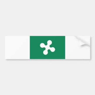 lombardy region flag italy county lombardia car bumper sticker