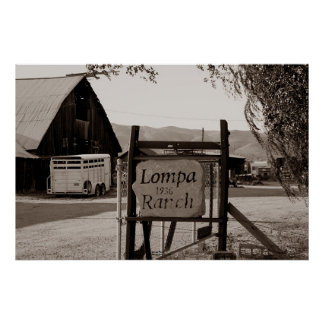 Lompa Ranch, Carson City, Nevada Posters