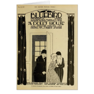 Lon Chaney Exhibitor Ad silent movie 1917 Ibsen Greeting Card