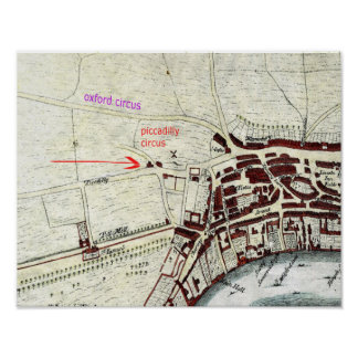 London 1560 map poster