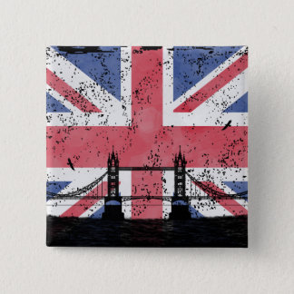 London 15 Cm Square Badge