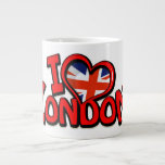 London 20 Oz Large Ceramic Coffee Mug