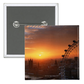 London 2 15 cm square badge