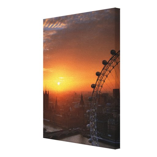 London 3 gallery wrap canvas