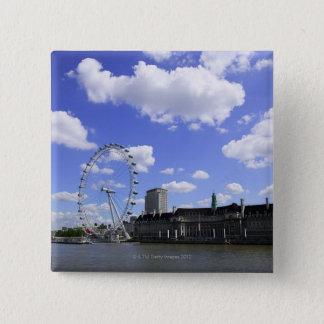 London 4 15 cm square badge