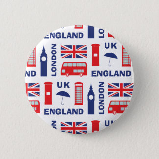 London 6 Cm Round Badge