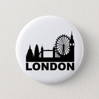London 6 Cm Round Badge