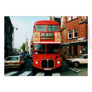 London # 73 Double-decker Bus Card