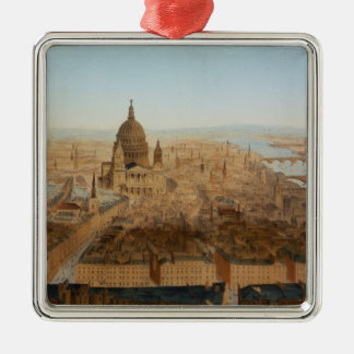 London: a bird's eye view of St. Paul's and the Ri Christmas Ornament