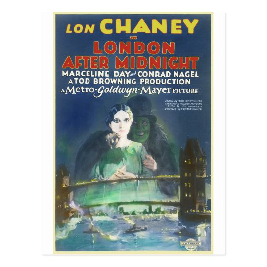 LONDON AFTER MIDNIGHT by Philip J. Riley Postcard