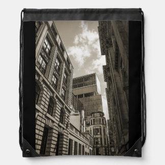 London architecture. drawstring bag