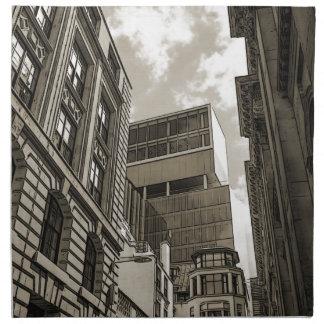 London architecture. napkin