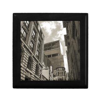 London architecture. small square gift box