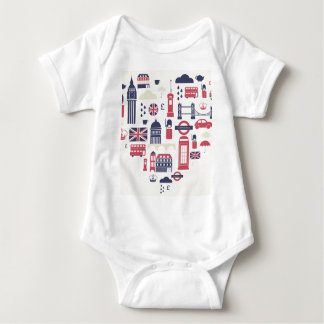 London at Heart Baby Bodysuit