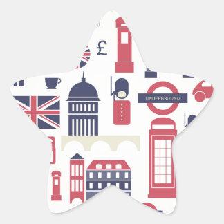 London at Heart Star Sticker