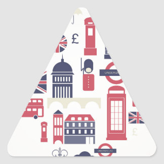 London at Heart Triangle Sticker