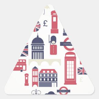 London at Heart Triangle Sticker