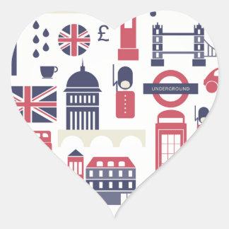 London at Heart Heart Sticker