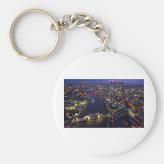 London at night (by St.K) Basic Round Button Key Ring