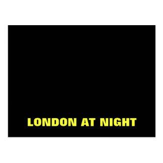 London At Night Postcard