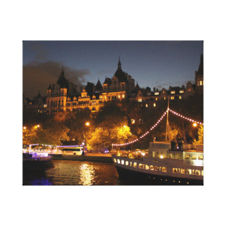 London at Night Stretched Canvas Prints