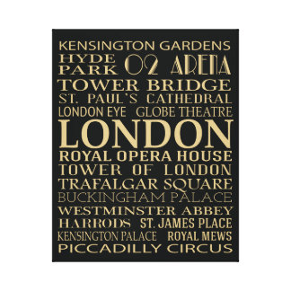 London Attractions Gallery Wrapped Canvas