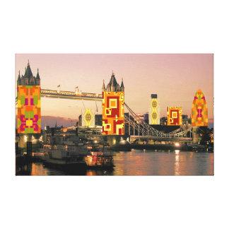 London Autumn Collage Canvas Print