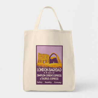 London - Baghdad Orient Express Tote Bag