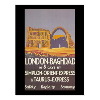London Baghdad simplon orient express Postcard