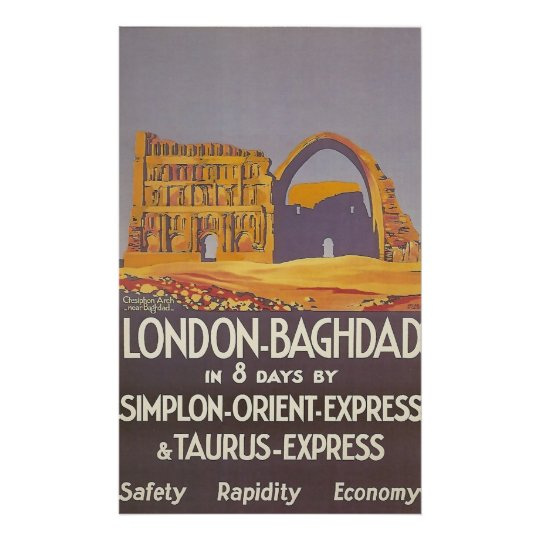 London Baghdad simplon orient express Poster