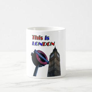 London Basic White Mug