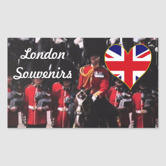 London Beefeaters British souvenirs Rectangular Sticker