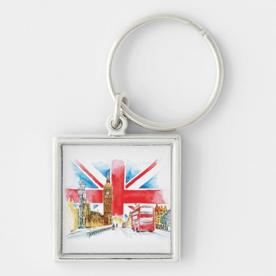 London Big Ben 5.7 cm Basic Button Key