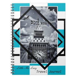 London, Big Ben Art, Travel Journal No1 (Notebook) Spiral Note Books
