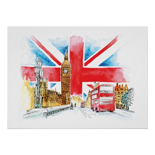 London Big Ben Canvas Poster